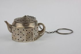 Vintage Sterling Silver Teapot Tea Ball By Amcraft ED13