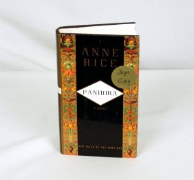 Signed Copy Of Pandora By Anne Rice BK230
