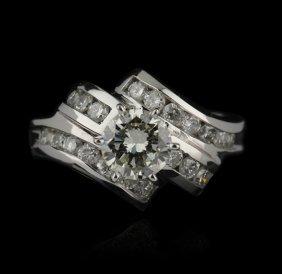 14KT White Gold 0.87ct EGL USA SI1/K Diamond Unity Ring