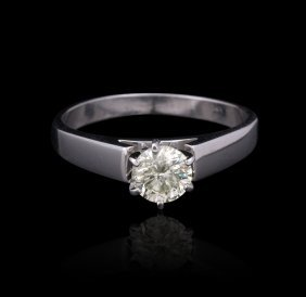 14KT White Gold 0.75ct Diamond Ring GB1333