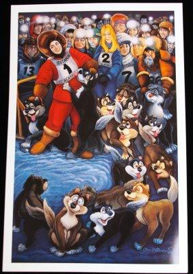 Alaska Iditarod By G.R. Cassarino Walt Disney Artist AP