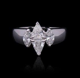 14KT White Gold 1.00ctw Diamond Ring GB1336