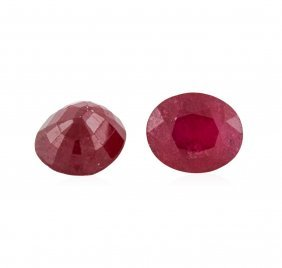 13.59ctw. Oval Ruby Parcel
