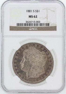 1881-s Ngc Ms62 Morgan Silver Dollar