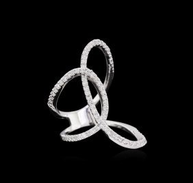 0.73ctw Diamond Ring - 14kt White Gold