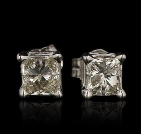 14kt Yellow Gold 0.61ctw Diamond Solitaire Earrings