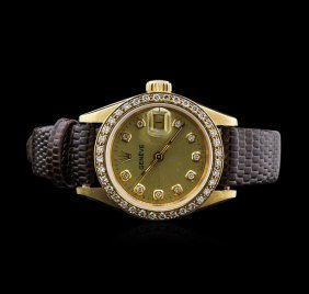 Geneve 18kt Yellow Gold Ladies Watch