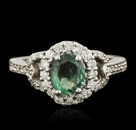 14kt White Gold 1.24ct Alexandrite And Diamond Ring