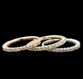 1.12ctw Diamond Ring - 14kt Tri-color Gold