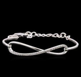 0.33ctw Diamond Bracelet - 14kt White Gold
