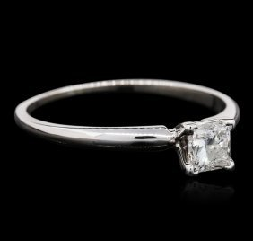 14kt White Gold 0.40ct Princess Cut Diamond Solitaire