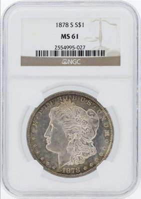 1878 Ngc Ms61 Morgan Silver Dollar