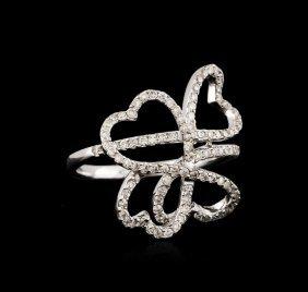 18kt White Gold 0.57ctw Diamond Ring