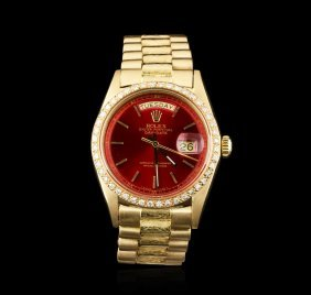 Gents Rolex 18kt Yellow Gold 1.00ctw Diamond Daydate