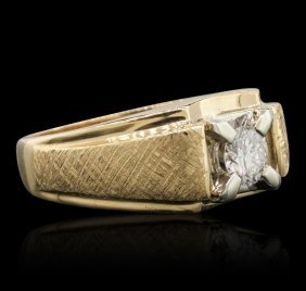 14kt Yellow Gold 0.34ctw Diamond Ring