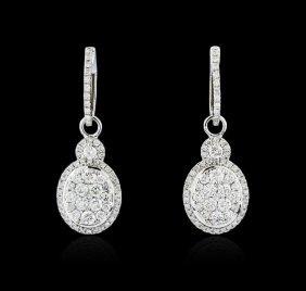 14kt White Gold 1.50ctw Diamond Earrings