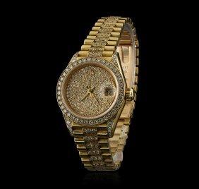 Rolex President 18kt Gold 2.50ctw Diamond Datejust
