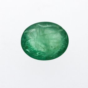 6.32ct. One Oval Cut Natural Emerald