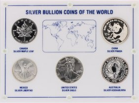 1991 Silver Bullion Coins Of The World Set