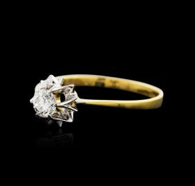 18kt Two-tone Gold 0.20ct Diamond Solitaire Ring