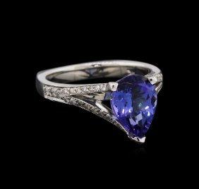 2.32ct Tanzanite And Diamond Ring - 14kt White Gold