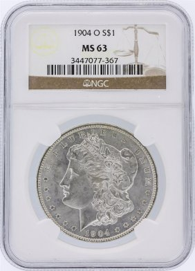 1904-o Ngc Ms63 Morgan Silver Dollar