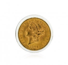 1899 $20 Bu Liberty Head Double Eagle Gold Coin