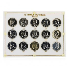 1950-1964 Sealed Us Franklin Half Dollar Proof Set