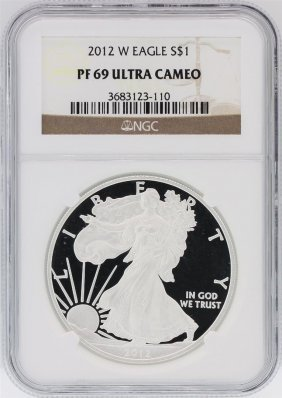 2012-w Ngc Pf69 Ultra Cameo American Silver Eagle