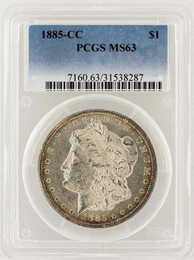 1885-cc Pcgs Ms63 Morgan Silver Dollar