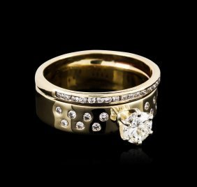 14kt Yellow Gold 0.90ctw Diamond Wedding Ring Set