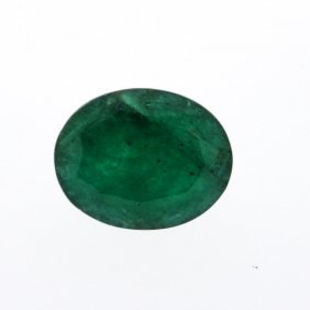7.77ct. One Oval Cut Natural Emerald