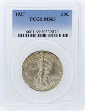 1937 Pcgs Ms65 Liberty Walking Half Dollar