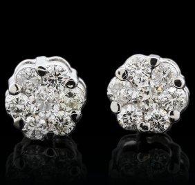 14kt White Gold 0.44ctw Diamond Earrings
