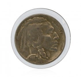 1937-d Vf Buffalo Nickel