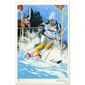 Downhill Skier By Henrie