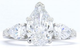 Gia Cert 3.21ctw Diamond Ring - Platinum