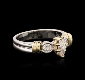 14kt Two-tone Gold 0.69ctw Diamond Ring