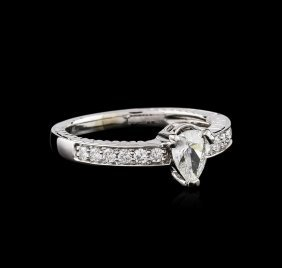 14kt White Gold .74ct Diamond Ring