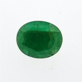7.49ct. One Oval Cut Natural Emerald