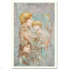 Woman With Children By Hibel
