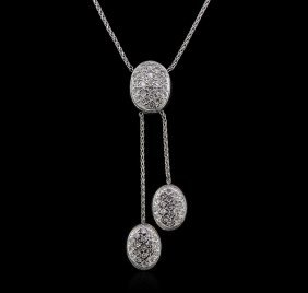 1.20ctw Diamond Necklace - 14kt White Gold