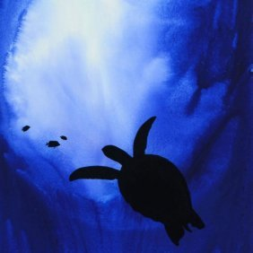 Original Turtle With Fish By Wyland