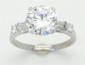 Gia Cert 2.64ctw Diamond Ring - Platinum