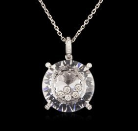 18kt White Gold 0.20ctw Diamond Pendant With Chain