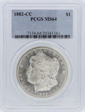 1882-cc Pcgs Ms64 Morgan Silver Dollar