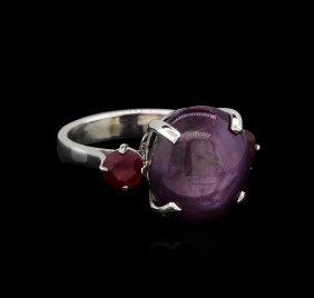 15.25ctw Ruby Ring - 14kt White Gold