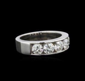Gia Certified 1.64ctw Diamond Wedding Band - 14kt White