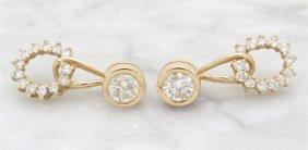 1.80ctw Diamond Earrings - 14kt Yellow Gold