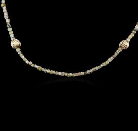 14kt Yellow Gold 22.02ctw Rough Diamond Necklace